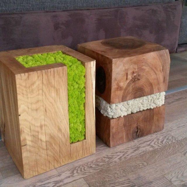 by linfadecor | #wood #trunks #stool #table #tronco #tavolo #sgabello #legno #tronchi