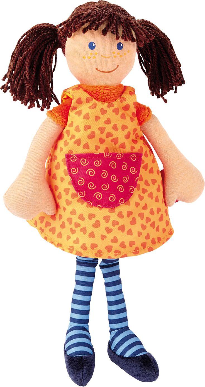doll/Puppe: Sigikid Puppe Sigidolly mit orangenem Kleid 40936 bei Papiton 25,- 30 cm