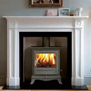 Wood burning stove that looks like a fireplace