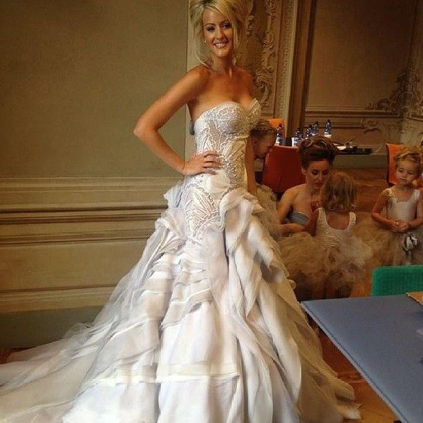 91 best J\'Aton Couture images on Pinterest | Wedding frocks, Bridal ...