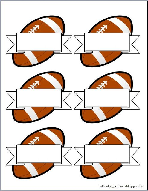 Salt and Pepper Moms: Football Snack Tag Printables