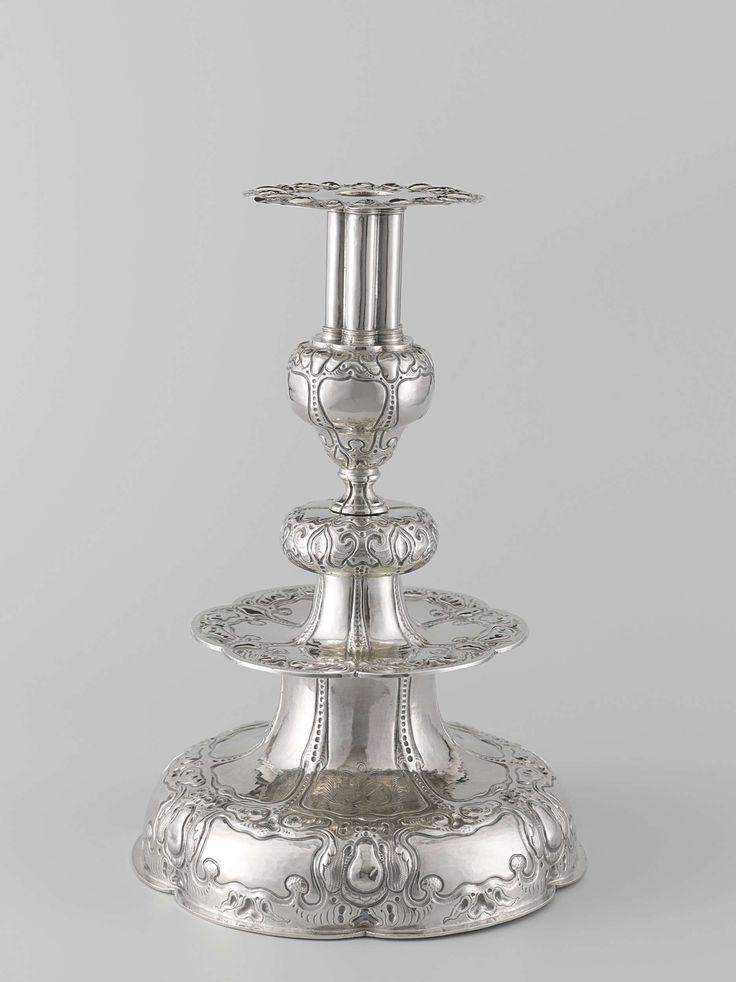 Zilveren kandelaar, Willem Brugman, 1652