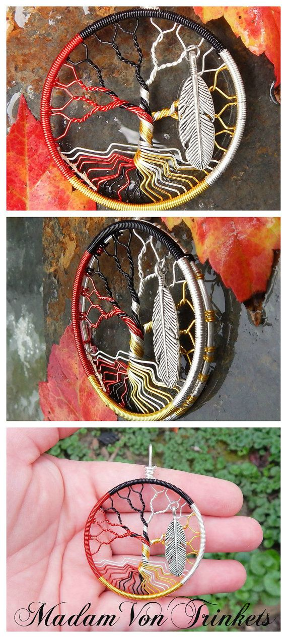 Medicine Wheel Wire Wrapped Tree of Life by MadamVonTrinkets
