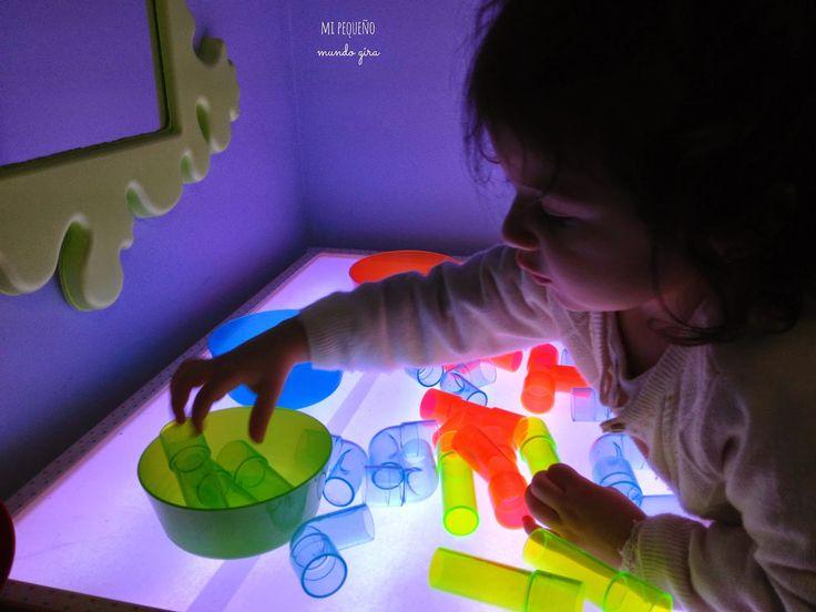 Mi pequeño mundo gira: Utilizar la mesa de luz I