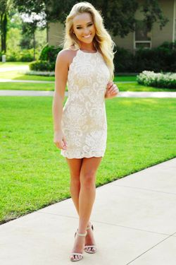 Share to save 10% on  your order instantly!  Some Say Its Love Dress: White