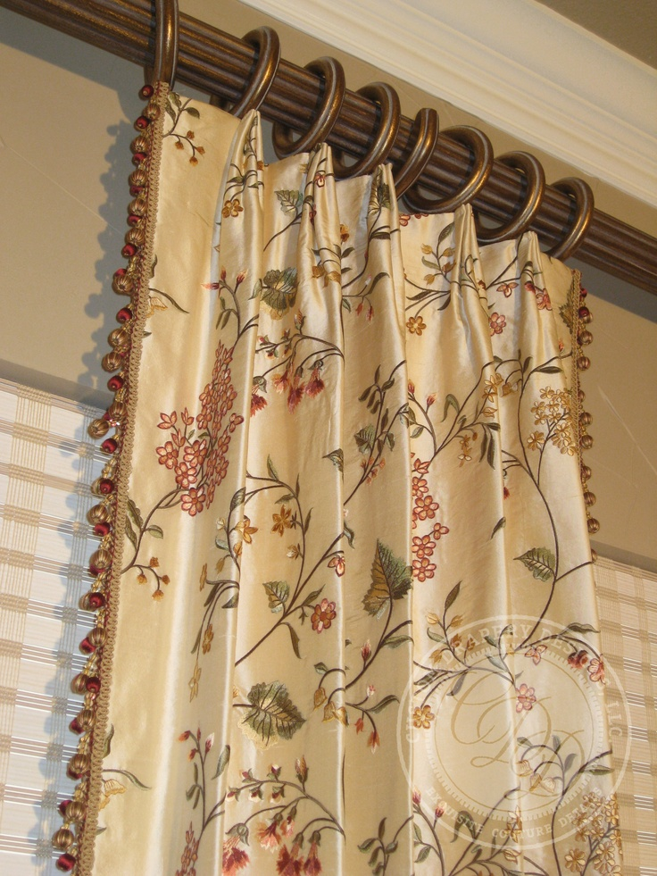 custom drapery designs llc trim hardware details - Drapery Design Ideas