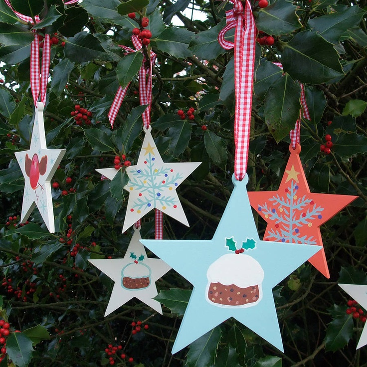 Personalised Illustrated Christmas Star