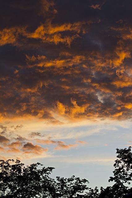 Summer sunset sky in Cambridge