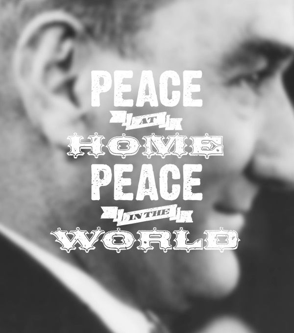 Typographic Ataturk Quotes by Ozan Karakoç
