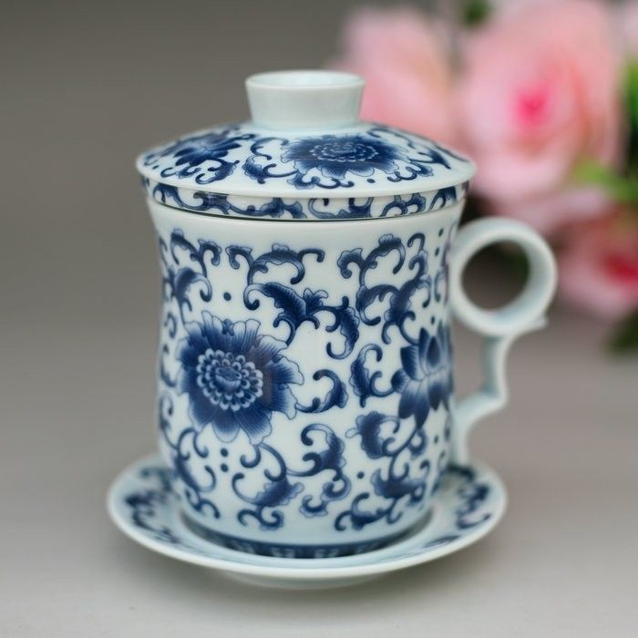 Jingdezhen cups bone China tea cup gift ceramic Cup boss ceramic cups filter Office Cup