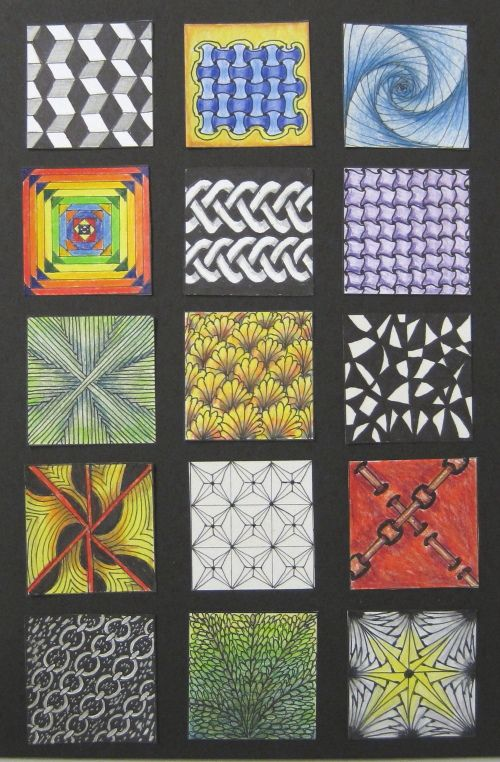 #Zentangle inspired  squares