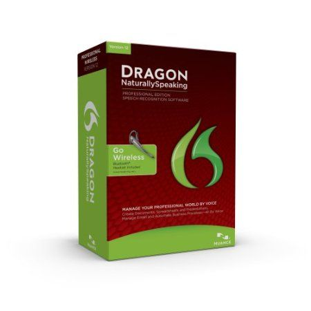 Dragon NaturallySpeaking 12 Professional Bluetooth comes with a premum wireless headset and is enterprise-ready speech recognition software that ignites new levels of productivity and profitability by enabling busy professionals to interact with their PCs entirely by voice. Dictate documents, reports and presentations, send email, search the Web, and navigate and command the PC - three times faster than typing - with up to 99% accuracy.   Price: $652.48