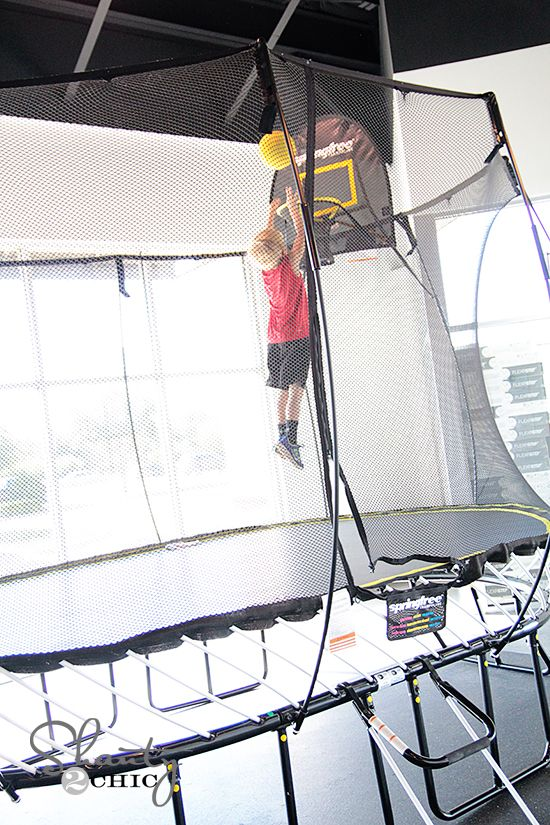 World's safest trampoline... No springs, no poles and they can't fall off! Love.
