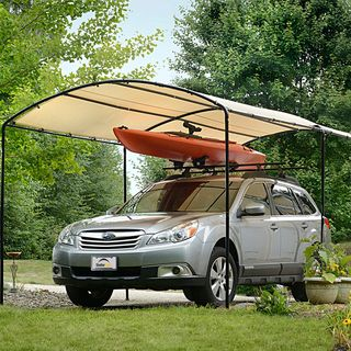The Domain carport offers protection from the elements for all your structured shelter needs. This carport is UV-treated inside and out with fade protectors, and highlights a heavy-duty, high-grade, s
