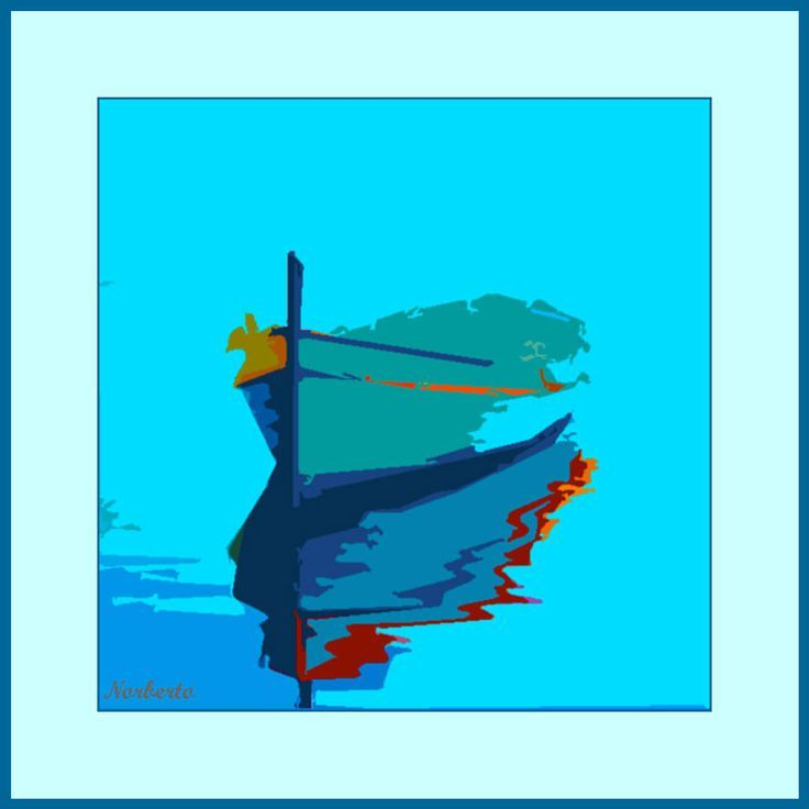 Cuadro abstracto moderno titulado, Reflejando barca azul. Movies, Movie Posters, Art, Abstract Paintings, Blue Nails, Art Background, Films, Film Poster, Kunst