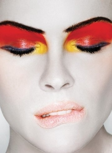 Red, Yellow, Black - soccer match makeup