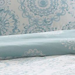 Add a hint of colour to your bedroom decor with this 'Oslo' bedding set from The Collection Home. It has a beautiful geo print all over on contrasting white and aqua backgrounds and comes with matching pillow cases.