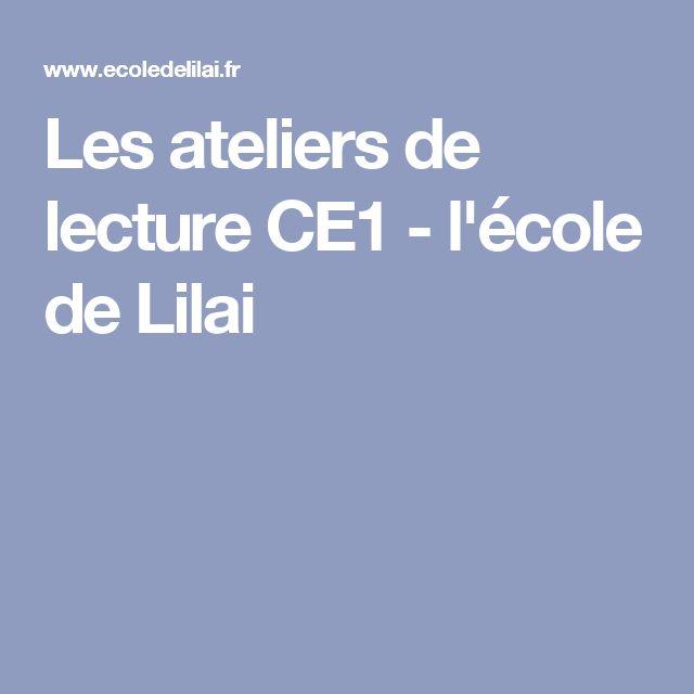 Les ateliers de lecture CE1 - l'école de Lilai