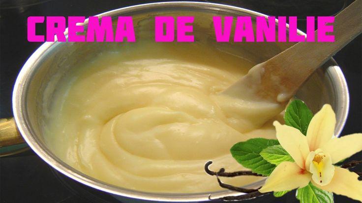 Crema de vanilie (crema de patiserie) este umplutura clasică pentru eclere, choux a la crème, cremșnit, cremes, cornuri - cornulete umplute , prajituri cu fr...