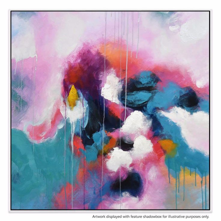 The vivid aqua and pink tones in this abstract piece are the perfect way to add a pop of colour to your bedroom, living room or office.This original design is supplied by artist Lanette Rose, under exclusive licence for strictly limited production.