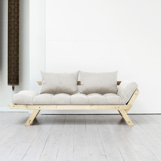 Fresh Futon Bebop Convertible Futon Sofa/Bed, Natural Frame, Natural Mattress contemporary-futon-frames