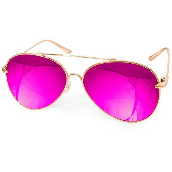 Fluorescent Aviator Glass Glasses