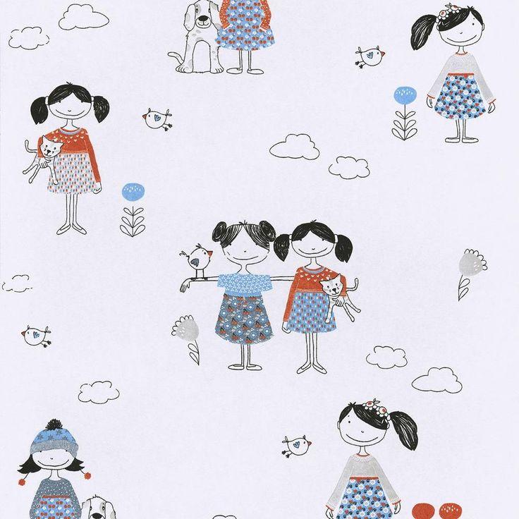 Papel de pared infantil Lise HUG102