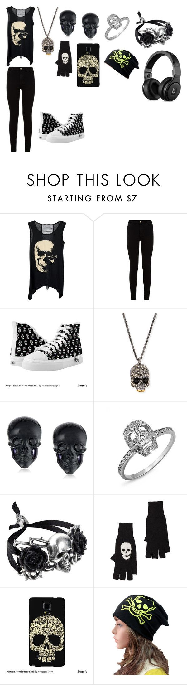 """""""skull outfit"""" by candysmash6252 on Polyvore featuring 7 For All Mankind, Alexis Bittar, Tarina Tarantino and Autumn Cashmere"""