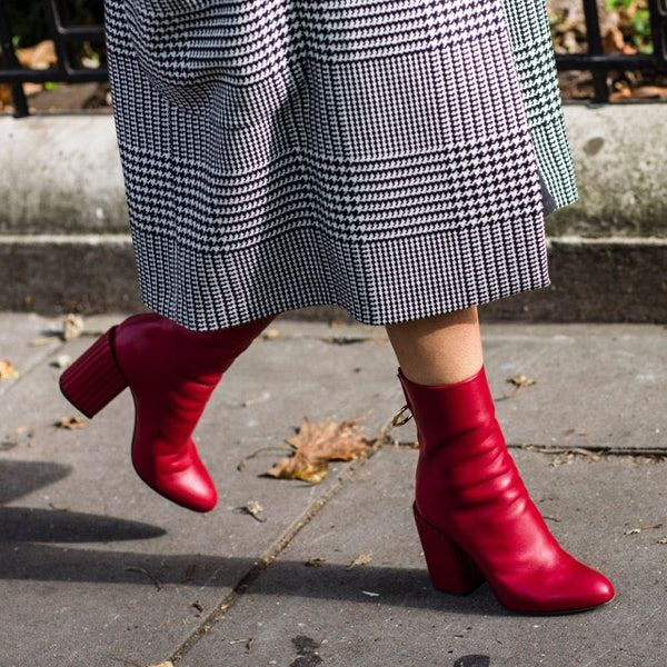 CHERRY BOMB From scarlet stilettos to crimson block heels, a pop of red  adds spice
