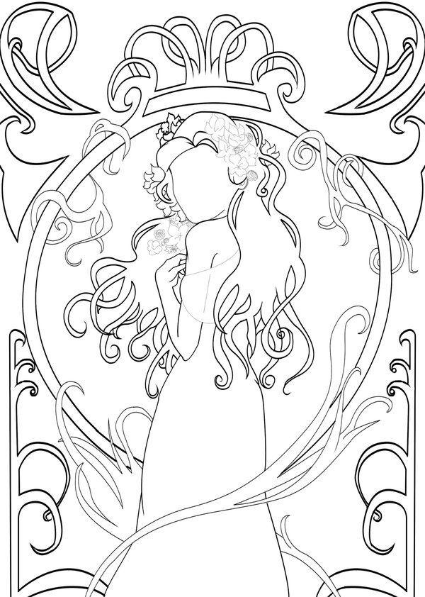 191 best Art Nouveau Coloring Pages images on Pinterest