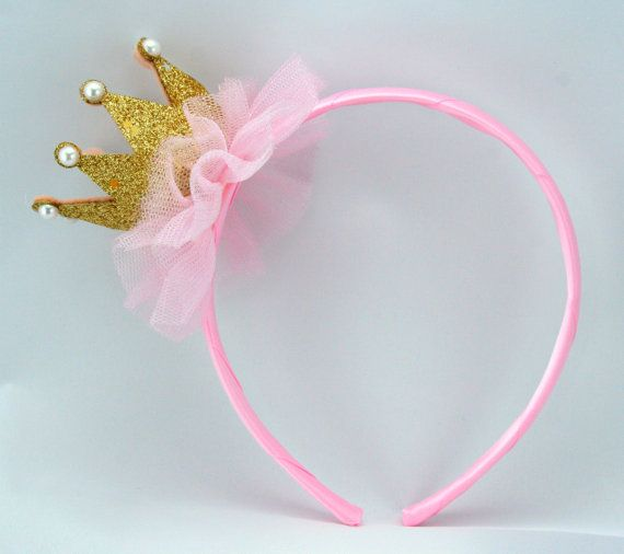 Pink Princess Headband Tiara/ Crown Headband by MyPartyStory