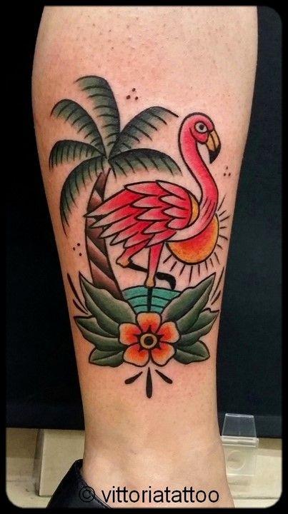 toyavittoriadominici flamingo tattoo vittoriatattoo via alessandro…