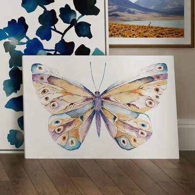 "Gallery Direct Fantasy Butterfly by Anton Painting Print on Canvas Size: 32"" H x 48"" W x 1.5"" D"