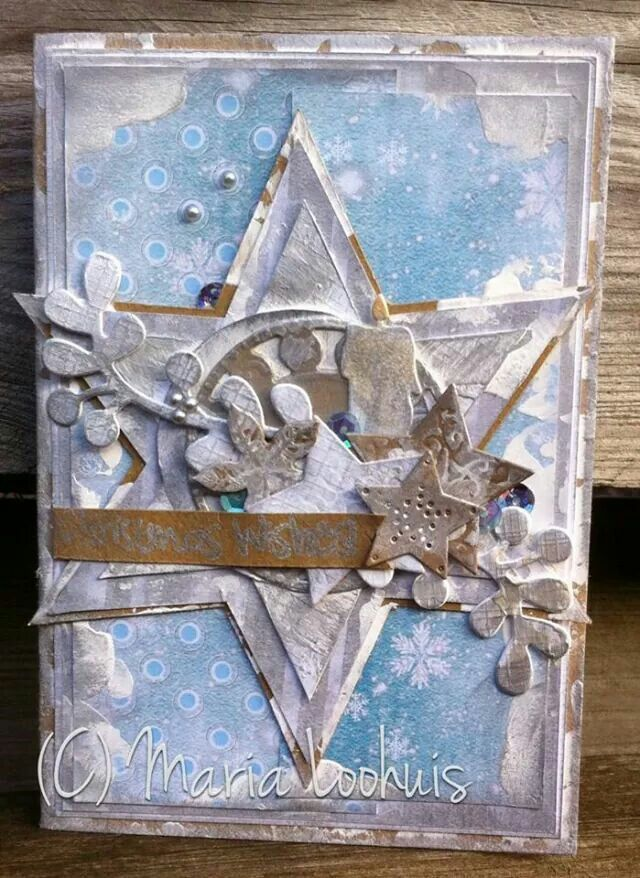 Christmaswishes with gesso