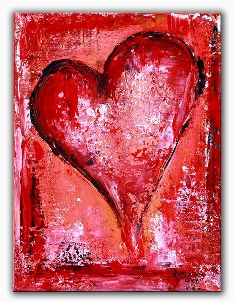 BURGSTALLER Herz bild Malerei abstrakt Liebe Partner Mutter Geschenk Herz 136 http://www.burgstallers-art.de/online-shop/herzbilder/