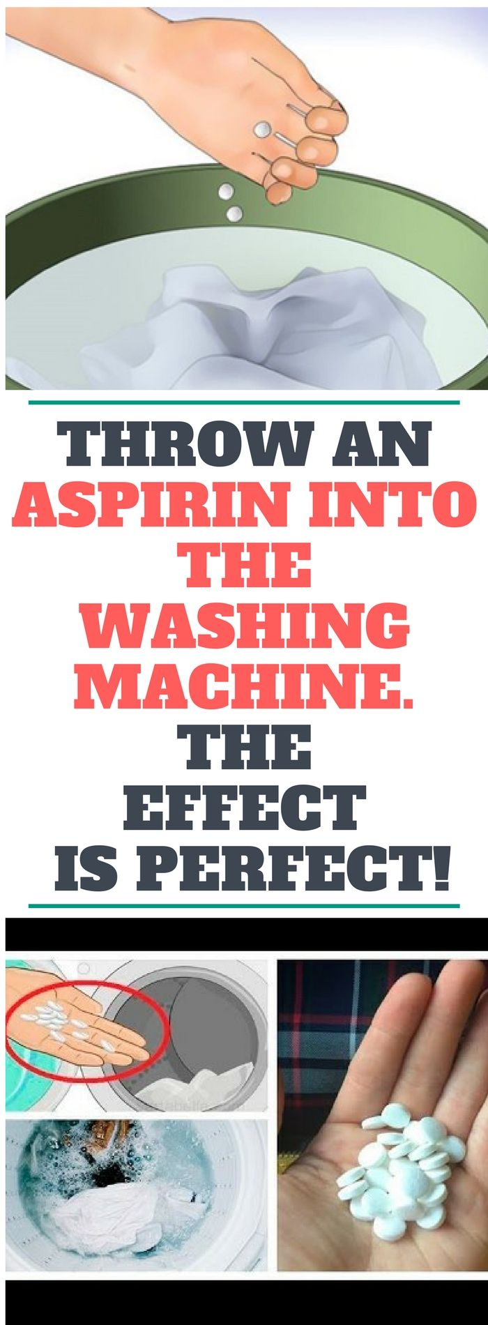 Throw An Aspirin Into The Washing Machine! The Reason Will Leave You Speechless!!!!