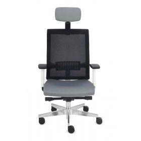 Fotel biurowy Level WS HD Chrome Grospol mix tkanin