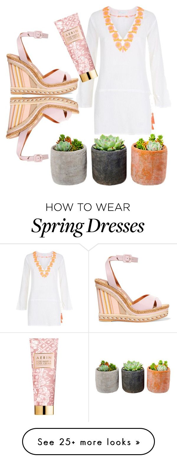 """""""Hurry, Spring!"""" by jamielynn2323 on Polyvore featuring ELIZABETH HURLEY beach, Valentino, Shop Succulents and AERIN"""