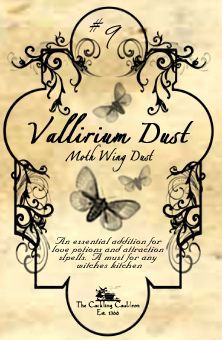 """Vallirium Dust"" #BottleLabel #Halloween #Moths"
