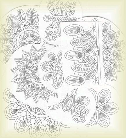 Romanian Point Lace patterns: