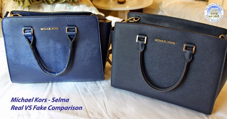 prada black and white bag - Michael Kors Selma - Fake VS. Real Comparison | all about bags ...
