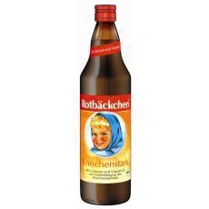 Sucul Rotbackchen Obraji Imbujorati Oase Sanatoase sprijina sistemul osos datorita compozitiei din sucuri organice, presate la rece, bogate in Gluconat de Calciusi Vitamina D3.
