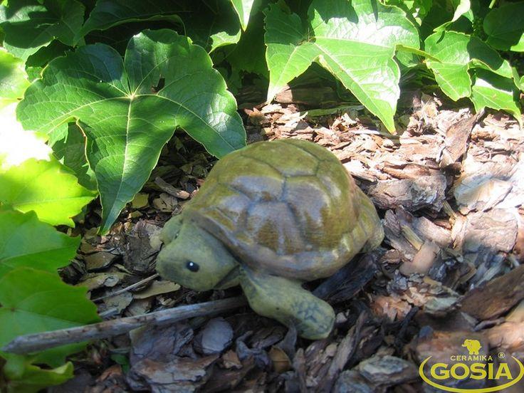 Żółw mały - figurka ceramiczna ogrodowa