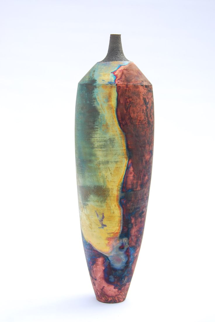 copper mat raku by Tim Betts