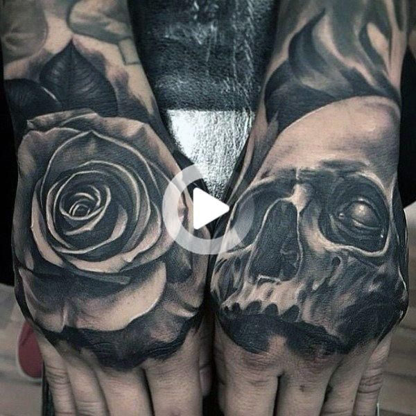80 Skull Hand Tattoo Designs For Men Manly Ink Ideas In 2020 Skull Hand Tattoo Hand Tattoos For Women Tattoo Designs Men