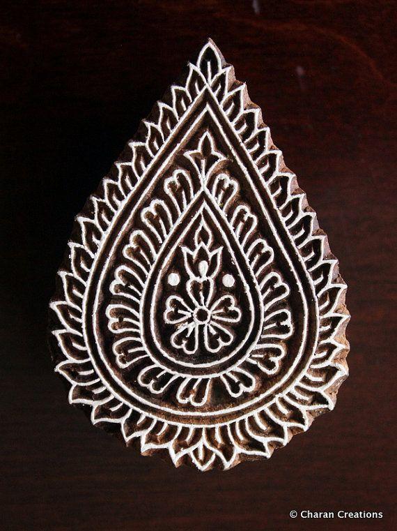 Indiase houten stempel aardewerk stempel stof door charancreations