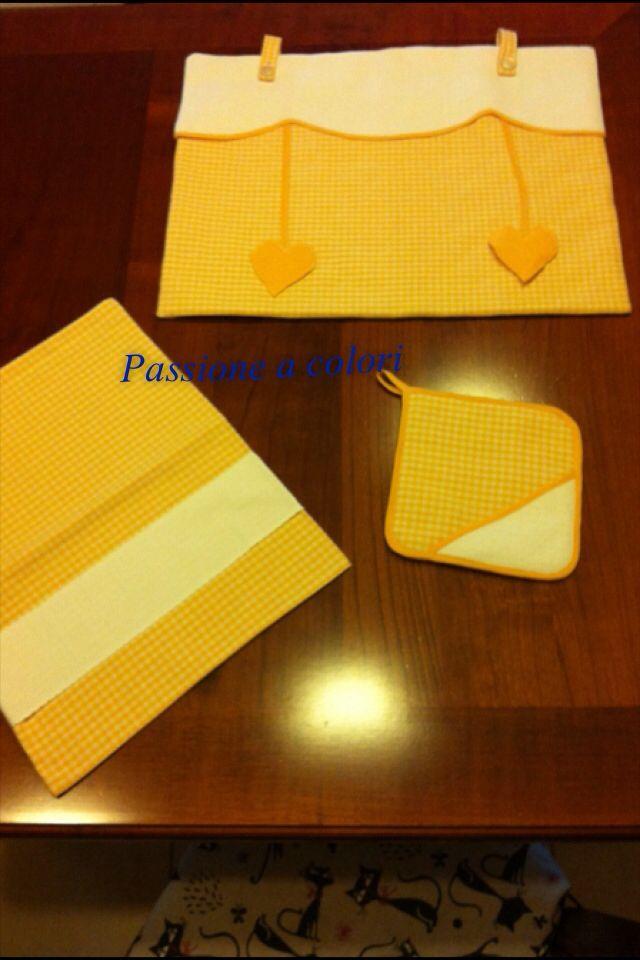 Sacca per il pane, presina e copriforno tutto con tessuto aida per essere ricamato