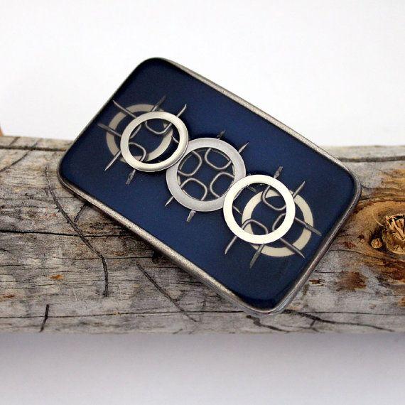 Triple target hardware resin buckle in dark blue by bykali on Etsy, $30.00