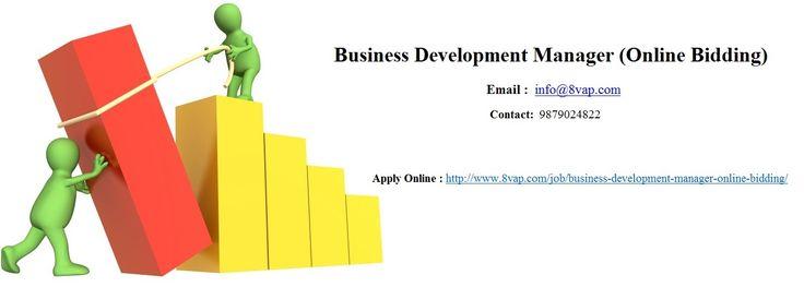 #Job for #BusinessDevelopment Manager Online Bidding in #Ahemedabad @ http://www.8vap.com/job/business-development-manager-online-bidding/