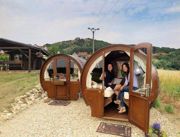 Ubytování v sudech mezi vinohrady